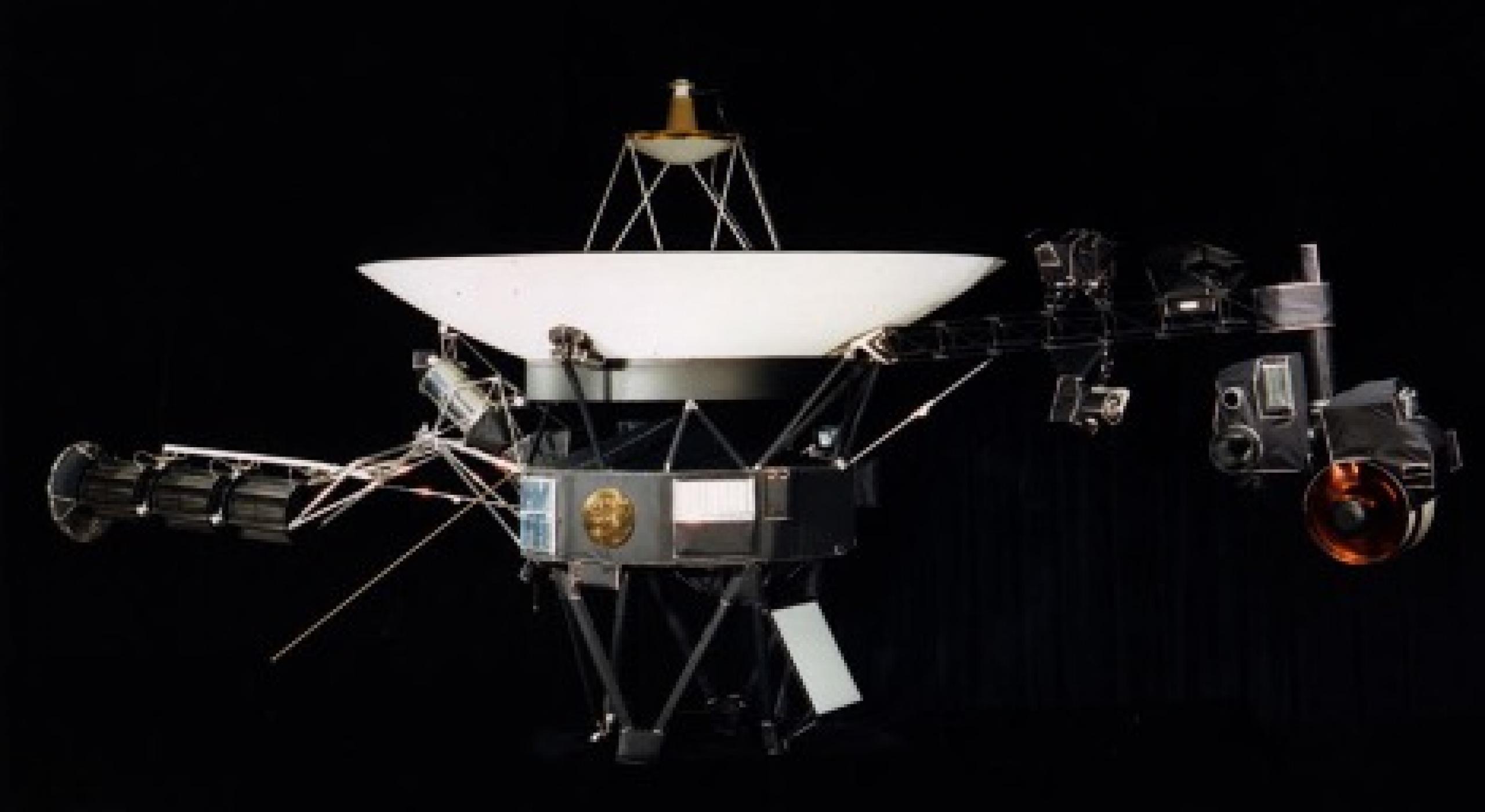 Artist concept of satellite against a black background