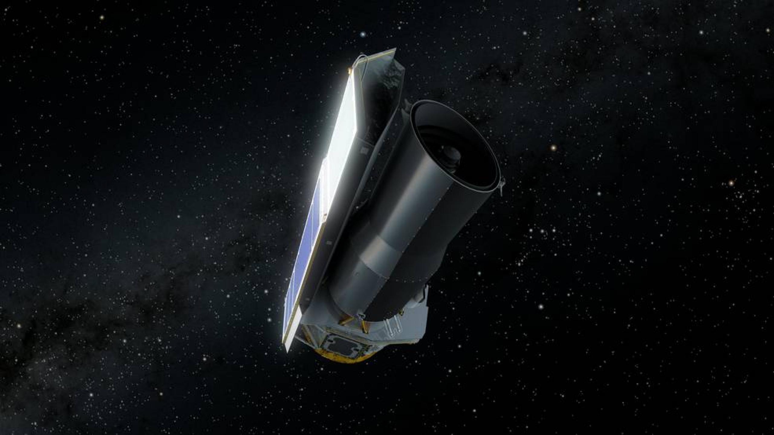 Artist rendition of Spitzer in space