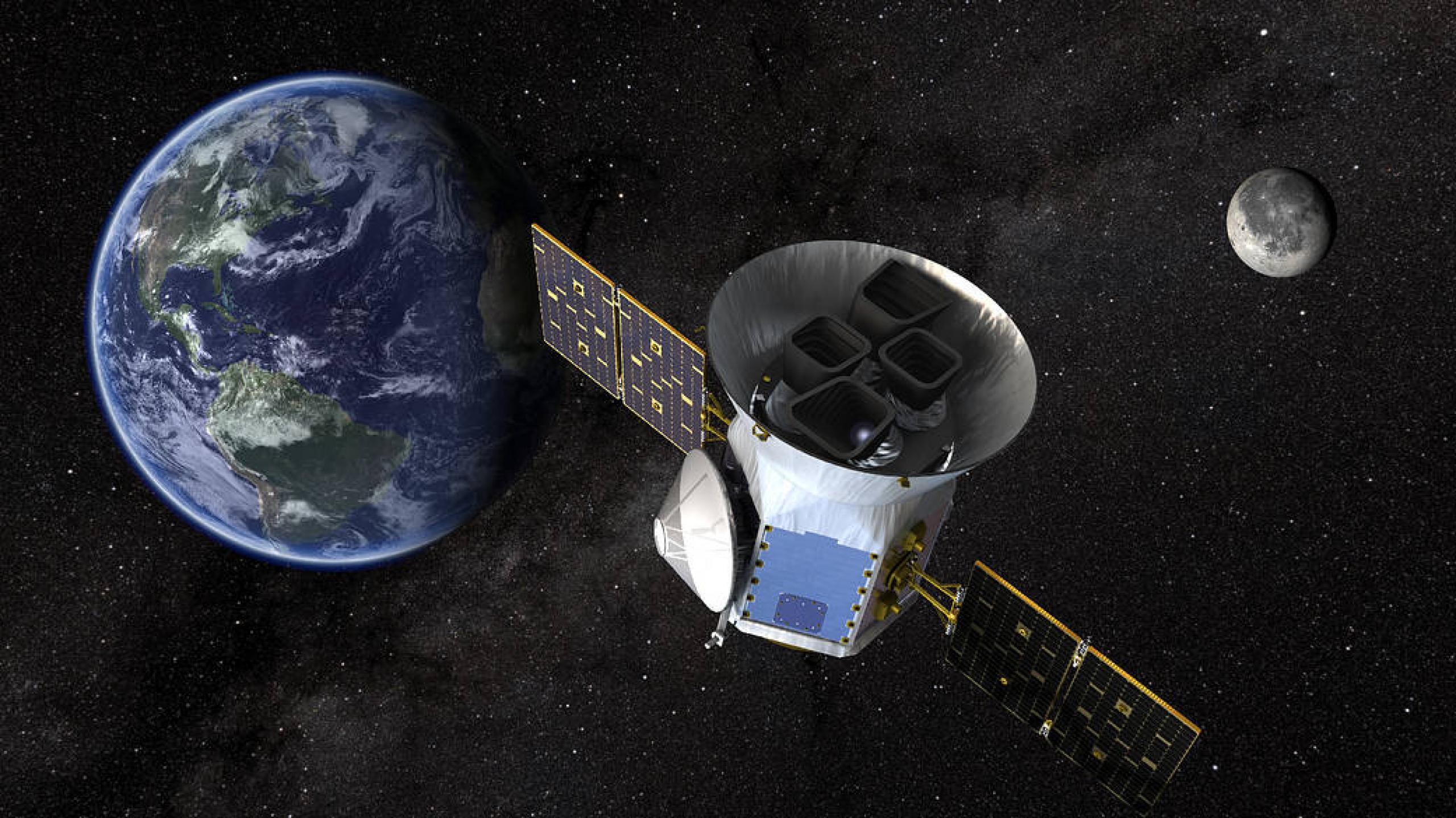 Artist concept of TESS satellite