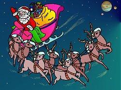 Interplanetary Santa, by artist Duane Hilton.