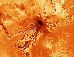 Ra Patera, a large shield volcano on Io