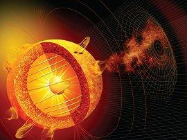an artist's concept of the variable sun