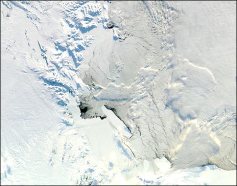 MODIS - Ice berg and Drygalski Glacier