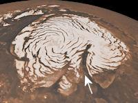 Mystery of the Martian Spirals (Chasma Boreale, 200px)