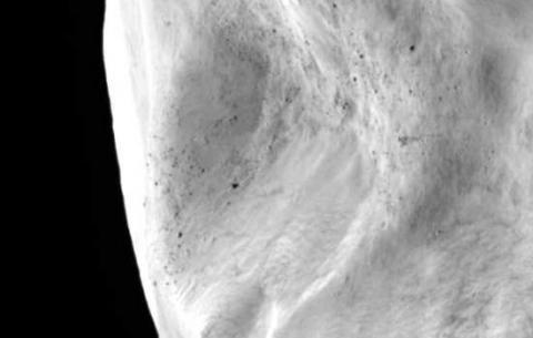 Asteroid Lutetia (landslide, 550px)