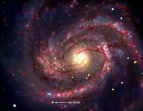 Baby Black Hole (m100, 550px)