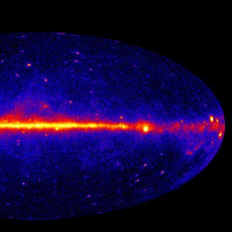 Gamma Ray All Sky Map
