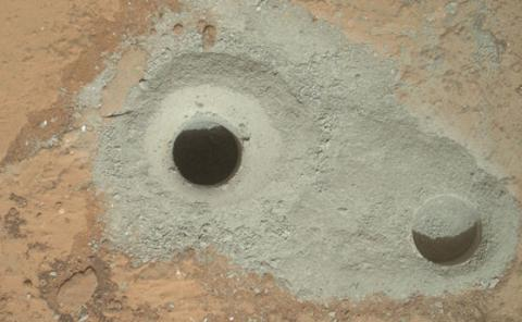 Curiosity Drills into Mars (splash)