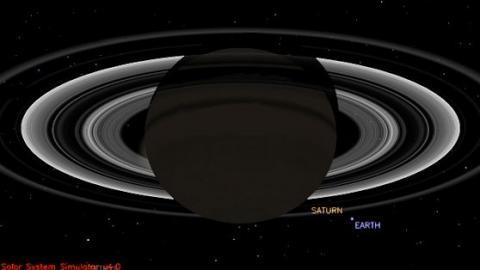 Cassini's Blue Dot (splash)