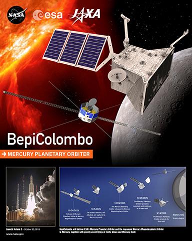 Artist concept of BepiColumbo satellite in space