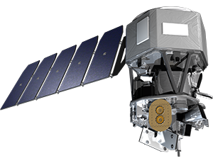Illustration of the ICON mission satellite
