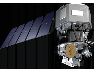 Illustration of the ICON mission satellite