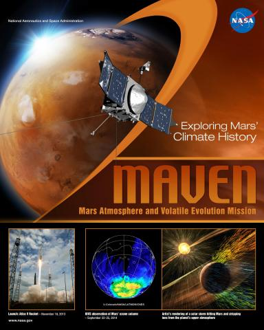 MAVEN Mission Poster