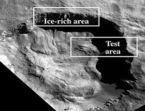 Perspective view of Juling Crater