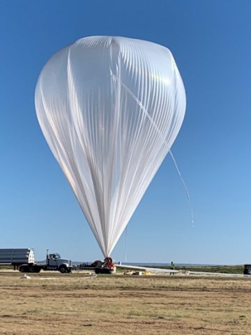 Photo of weather balloon