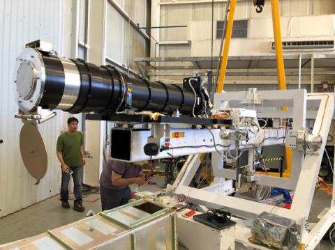 Photo of BITSE coronagraph in NASA hanger