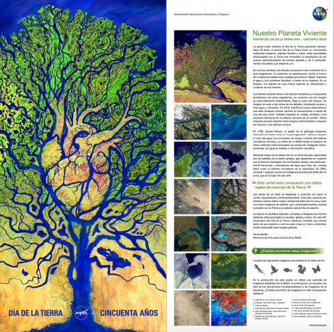 Download the Earth Day 2020 poster in Spanish