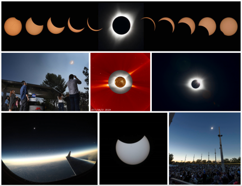 Collage of 2017 Total Solar Eclipse