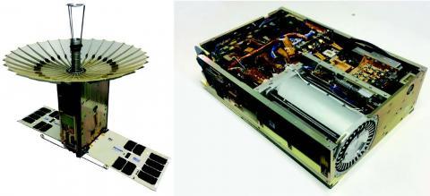 Photos of RainCube flight hardware