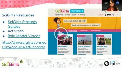 "Screenshot of a slide from the webinar session ""Engaging Rural Girls in STEM: Gender Equitable Strategies for Educators""."