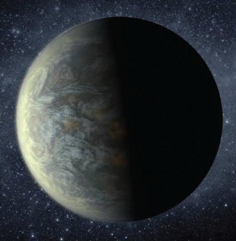 Artist rendition of an exoplanet