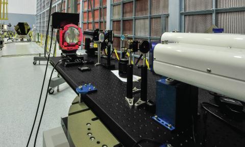 Photo of High Speed Interferometer instrument test setup