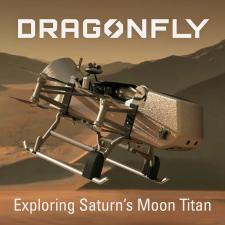 Illustration of Dragonfly mission spacecraft