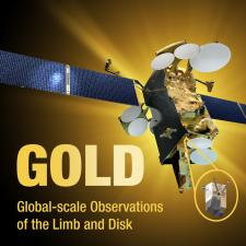 illustration of Gold spacecraft with gold light in background
