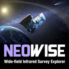 Illustration of Neowise mission spacecraft