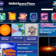 Screenshot of SpacePlace website