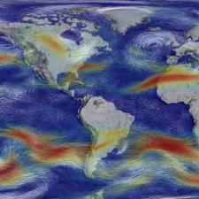 Visualization of global winds