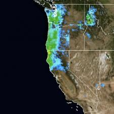 Satellite imagery of precipitation over the Pacific Northwest