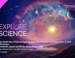 MY NASA DATA PRESENTS EARTH SYSTEM DATA EXPLORER TO 53 EDUCATORS AT ESIP WORKSHOP