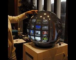 Interactive spherical display
