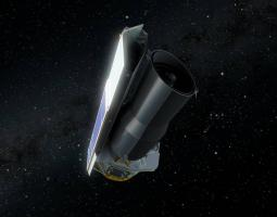 Artist rendition of Spitzer in space