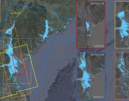 Satellite image of Mozambique lakes