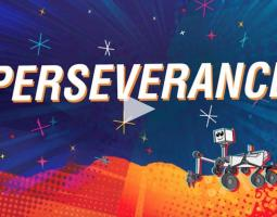 Cartoon Illustration of Mars Rover Perseverance