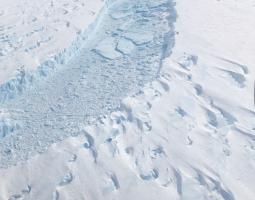 Photo of retreating glacier