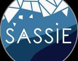 Blue and white SASSIE logo