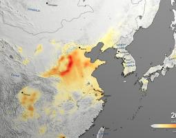 Satellite data visualization in China