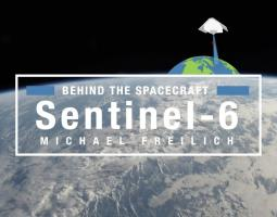 Sentinel 6 Michael Freilich spacecraft in orbit above the earth