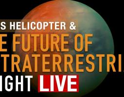 Title frame for the Mars Helicopter & the Future of Extraterrestrial Flight Science Live video