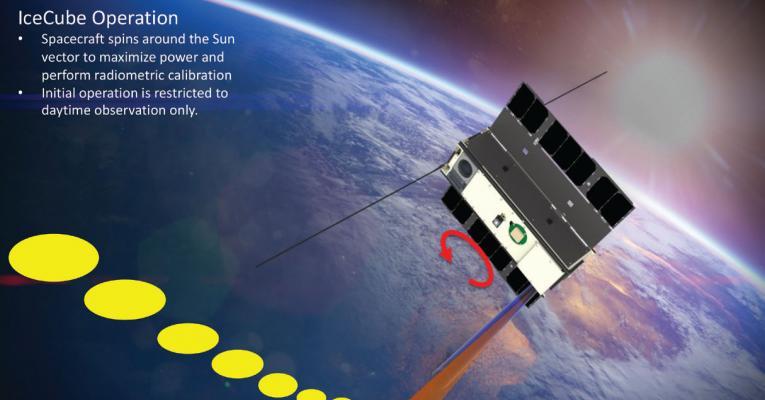 Art concept of IceCube satellite in orbit