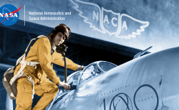 Photograph of man climbing into airplane