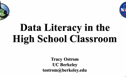 "Intro slide from ""Data Literacy in the High School Classroom"" presentation to teachers in breakout rooms."