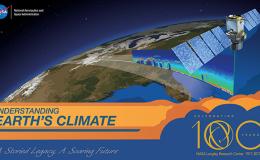 Illustration of satellite scanning earth's surface