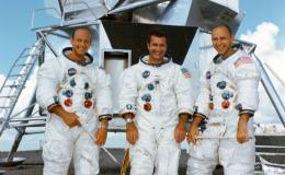 Photo of 3 Apollo astronauts