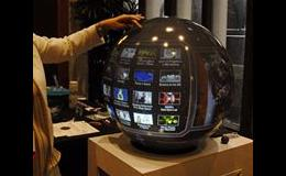 Interactive spherical display