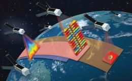 Artists depiction of the constellation of TROPICS CubeSats.