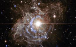 bright star amid swirls of light
